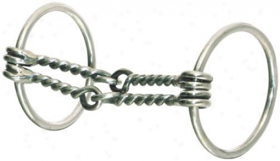 Abetta Double Wire Snaffle Bit - Stainless Steel - 5