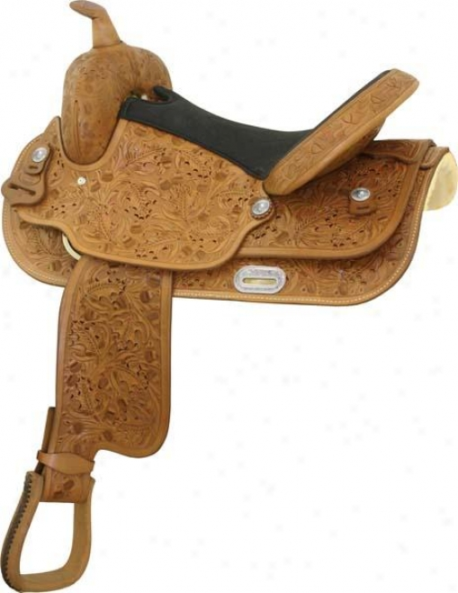 Abetta Oak Leaf Saddle With Flex-wide Tree