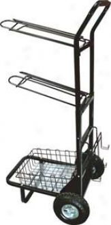 Abetta Saddle Dolly-rack System - Dark - 63 X 24 X 19