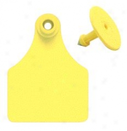 Allfkex Ear Tags Numbwred 76-100 - Golden - Large