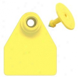 Allflex Ear Tags Numbered 76-100 - Yellow - Medium
