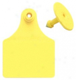 Allflex Female Blank Ear Tags - Yellow - Large