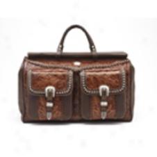 American West Retro Romznce Boot Bag - Brownoak1