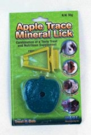Apple Trace Mineral Treat With Holder For Small Animals - Assorted