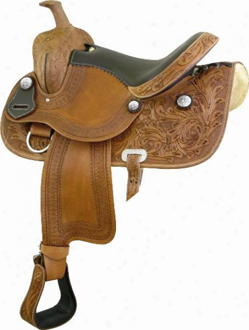 Atec Sta Pleasure Saddle - Natural With  Brown - 16