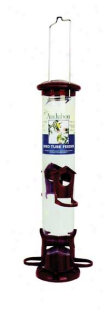 Audubon Tube Feeder 4 Port Durable Abs Plastic - Quart