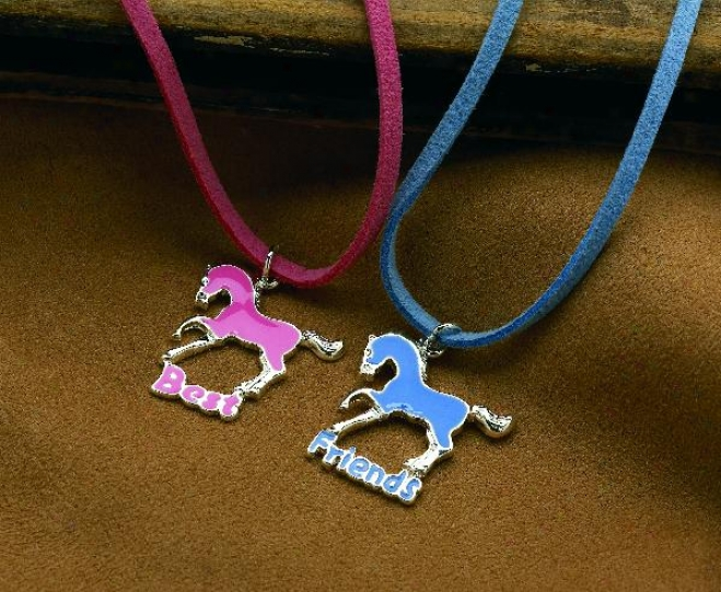 Best Friends Dpuble Necklaces Ste - Blue/pink