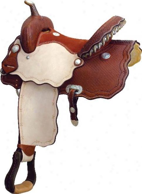 Billy Cook Saddlery Wave Of Fire Racer Saddle - Pecan - 15