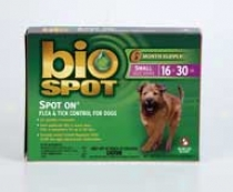 Bio Spot Spot-on Insecticide/repellant 16-30 Pounds - 6 Pack