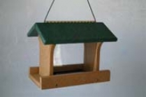 Bird Feeder Recycled Plastic - Green - 10 X 8 X 8