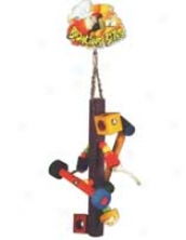 Bodacious Bits Spinner Bird Toy - Assorted