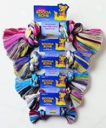 Booda Dog Rope Bone Tug Toy - Multicolor - Large