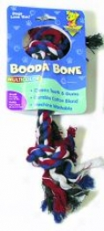 Booda Dog Rope Bone Tug Toy - Multicolor - Small