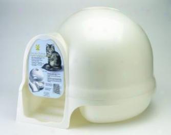 Booda Dome Clean Step Litter Box - Pearl