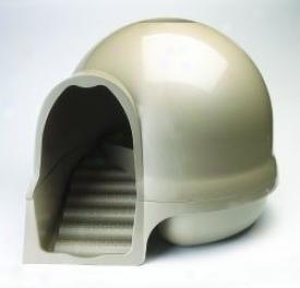 Booda Dome Clean Step Litter Box - Titanium