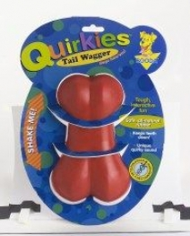Booda Quirkies All-natural Ruhbber Dog Chew Toy - Red