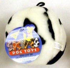 Booda Skins Ball Plush Dog Toy - Black And White - Large