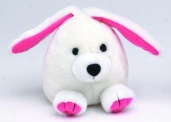 Booda Squatter Synthetic Plush Dog Toy - White - Large