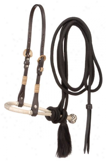 Bosal Hanger Headstall With Bosal And Mecate