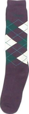 Brand Name Argyle Socks - Purple/teal - Adult