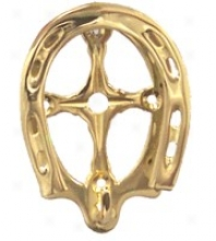 Brass Horseshoe Bridle Rack - Brass