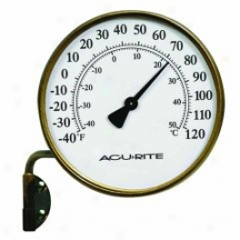 Brass Outdoor Thermometer On Swing Arm - Brass - 3.5 Diameter