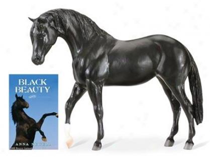 Breyer Black Beauty Model & Book Set - Black