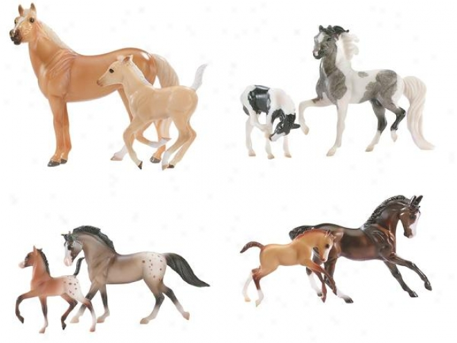 Breyer - S5ablemates Horse & Foal Sets