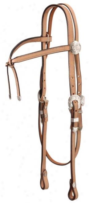 Bright Cut Silver Fiturity Brow Headstall