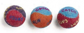 Burlap Cat Balls - Assorted