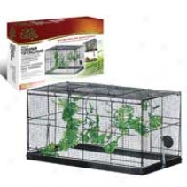 Cage Fresh Air Topper For Reptile Cage/tanks - Black - 10 Gallon