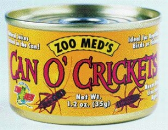 Can O' Crikets Food For Lizards/snakes/amphibians/water Turtles - 1.2 Oz