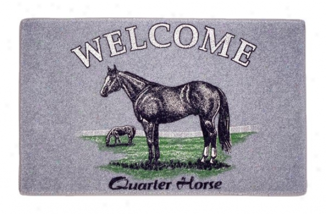 Carpet Quarter Horse Welcome Mat - Assorted