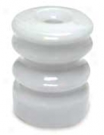 Cerajic Electric Fence Insulator With Nails - White - 25 Pack