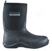 Classic Middle Boot For Women - Black - Women's 7