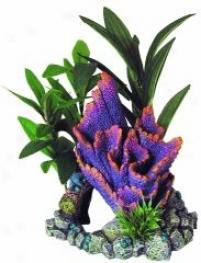 Coral Floral Purple Ridge Cave Aquarium Ornament