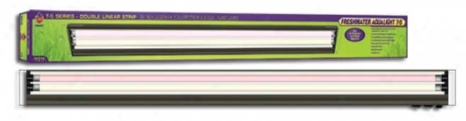 Coralife Freshwatter Aqualight T5 Series Double Linear Lamp Fixture - 36
