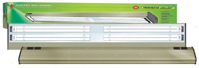Coralife Freshwater Deluxe 6700k Aqualight Fixture - Metallic Alumminum - 48