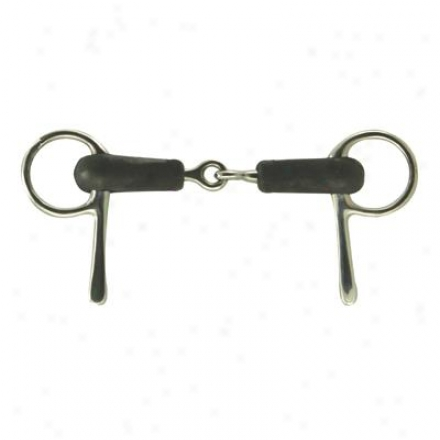 Coronet Rubber Mouth Half Cheek Snaffle Bit - 5