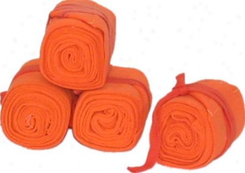 Cotton Track Bandages - Set Of 4  - Orange