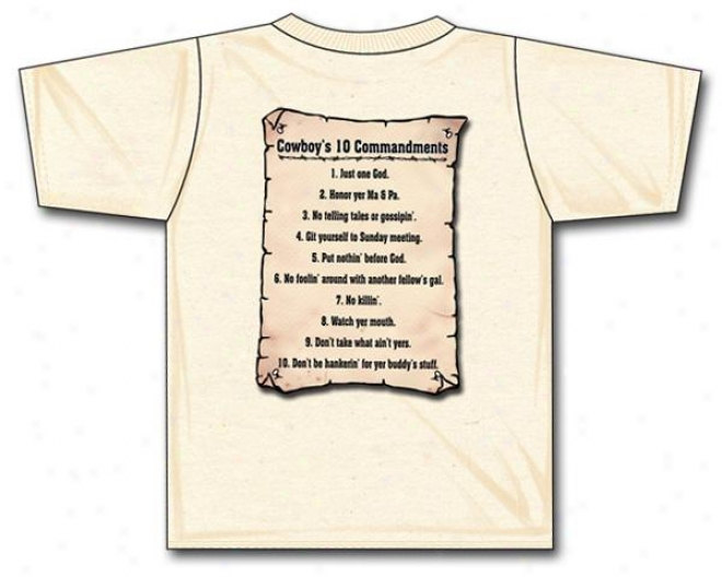Cowboy Brand Cowboy's Commandments Youth T-shirt