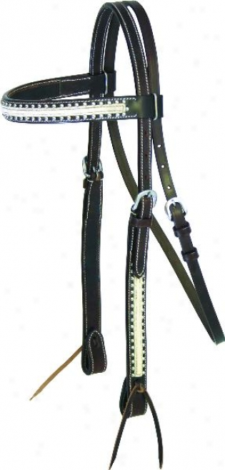 Cowboy Pro Headstall By the side of Affections With Hair - Lt Chocolate - Horse