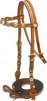 Cowboy Pro Rawhide Wrapped Bridle