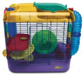 Cfittdrtrail Two Home For Hamsters/mice/gerbils - Multkcolor
