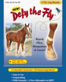 Defy The Fly Leg Bands For Horses - Yellow