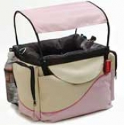 Deluxe Bicycle Pet Basket For Dogs - Pink
