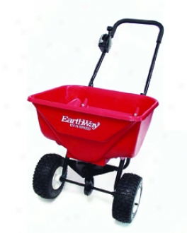 Deluxe Broadcast Spreader - Red - 65 Pound Hopper