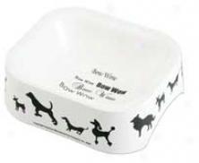 Designer Silhoutte Dogs Bowl 6 - White