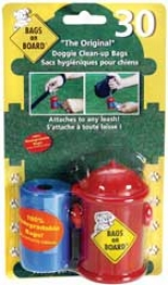 Dispenser Fire Hydrant Dog Waste Bags - Red - 30 Bag