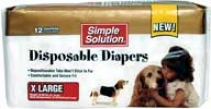 Disposable Diapers For Dogs - White - Extra-large